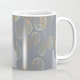 Golden Leaves - Gray Coffee Mug