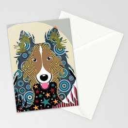 Rough Collie Stationery Cards