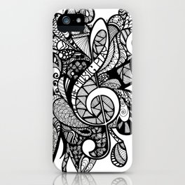 Let the music play! iPhone Case