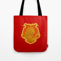 gryffindor Tote Bags featuring Gryffindor by Tom Oxnam