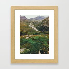 Hiking Swiss Alps Framed Art Print