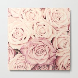 Some people grumble I Floral rose roses flowers pink Metal Print