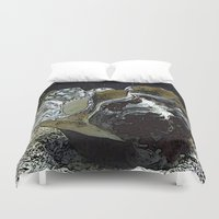 seashell Duvet Covers featuring seashell by MehrFarbeimLeben