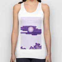 egyptian Tank Tops featuring Egyptian Moon by Erica Putis