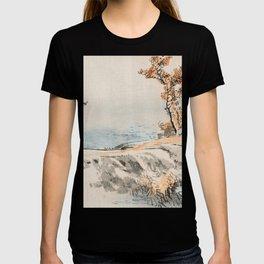 Autumn Birds Traditional Japanese Landscape T-shirt