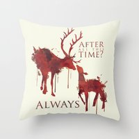 snape Throw Pillows featuring Always by Rose's Creation