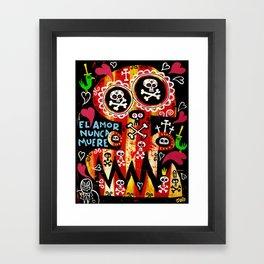 Amor Nunca Muere Framed Art Print