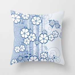 Abstract flowers with background Throw Pillow
