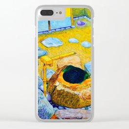 Zen Garden at Philadelphia Museum of Art Clear iPhone Case