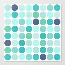 the blue dots Canvas Print