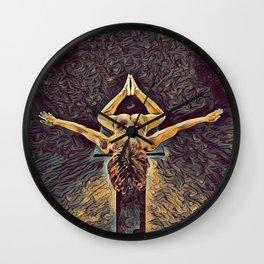 1038s-ZAC Black Dancer Flying on Pedestal Rendered Antonio Bravo Style Wall Clock