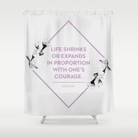 courage Shower Curtains featuring Courage by Heart of Hearts Designs