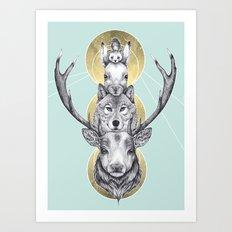 Winter Totem Art Print