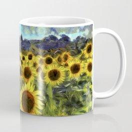 Sunflower Fields Of Summer Van Goth Coffee Mug