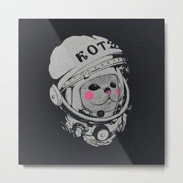 Spaceman cat Metal Print