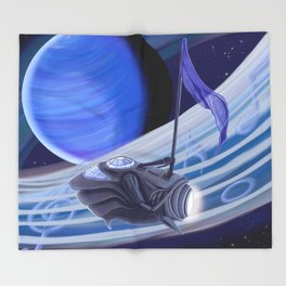Through Space and Sound Throw Blanket