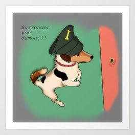General Mr Badger Art Print