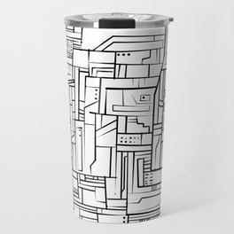 Electropattern(B&W) Travel Mug