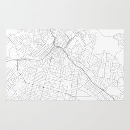 Auckland, New Zealand Minimalist Map Rug