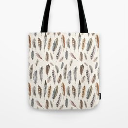 Feathery Nature Pattern Tote Bag