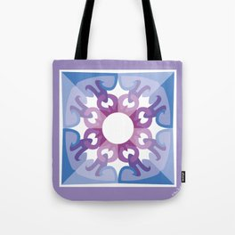 Peace is a Flower Mandala Tote Bag