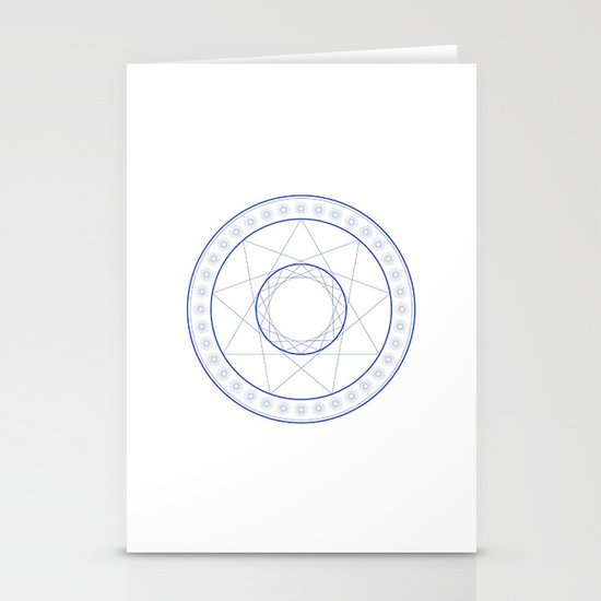 Anime Magic Circle 9 Stationery Cards