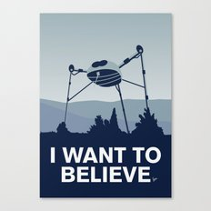 My I want to believe minimal poster-war_of_the_worlds Canvas Print
