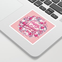 Holiday Greetings 8 Sticker