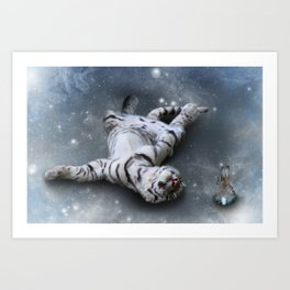 Tiger and Rabbit Art Print