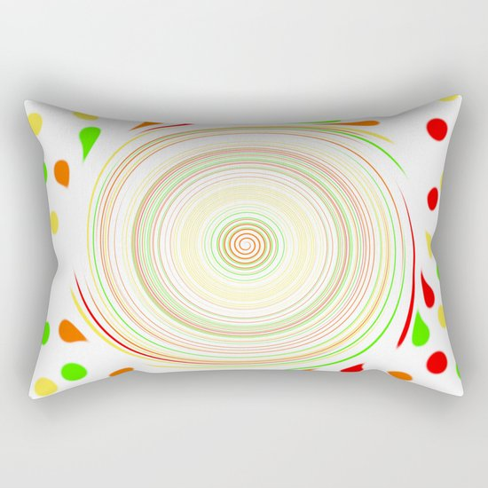 Paint Splatter Rectangular Pillow