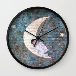 Twinkle Twinkle blue star Wall Clock