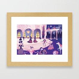 At the Ball Framed Art Print