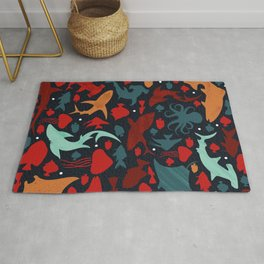 Fish in the Red Sea Rug