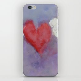 flying heart encaustic iPhone Skin