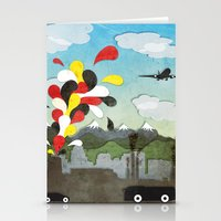 chile Stationery Cards featuring Centro de Chile by i am nito