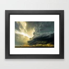 Supercell - Massive Storm Over the Great Plains Framed Art Print