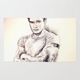 Young Marlon Brando Rug