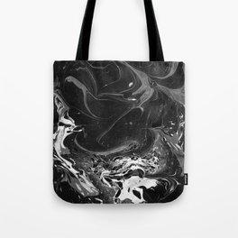 // MARBLED BLACK // Tote Bag