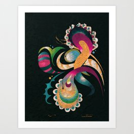 Organic 4 Art Print