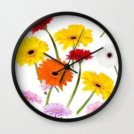 Colorful gerbera daisies Wall Clock