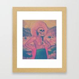 Mujer con sombrero. Framed Art Print