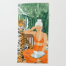 Jungle Vacay #painting #illustration Beach Towel