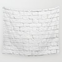 floyd Wall Tapestries featuring Brick Wall by Patterns and Textures