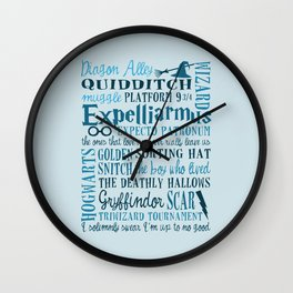 Harry Potter - All Quotes  Wall Clock