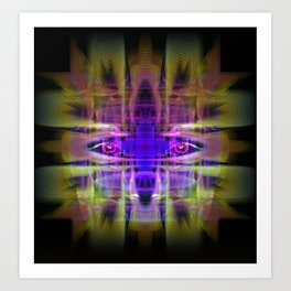 Electric Goddess Art Print