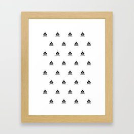 Arrows Collages Monochrome Pattern Framed Art Print