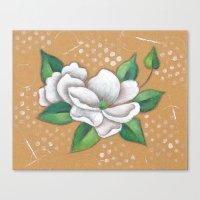 magnolia Canvas Prints featuring Magnolia by Judy Skowron