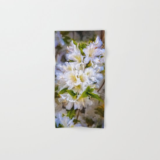 White Rhododendron Hand & Bath Towel