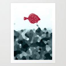 Little Red Fish Art Print