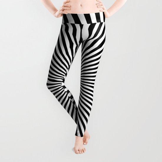 Starburst (Black/White) Leggings